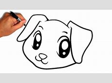 Dogs Drawings | Free download best Dogs Drawings on ... Easy Dog Face Drawing