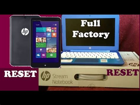 resetting hp stream to factory settings hp stream factory restore windows reset laptop or tablet