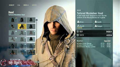 unity tutorial character customization assassin s creed unity character customization youtube