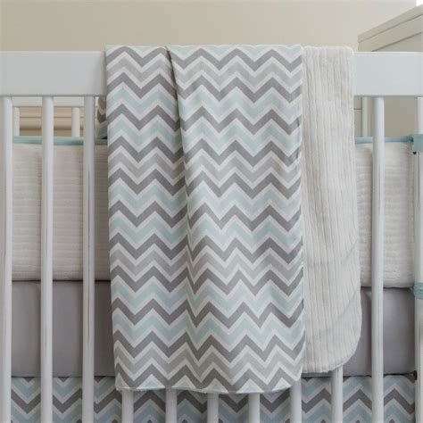Baby Crib Blanket Mist And Gray Chevron Crib Blanket Carousel Designs