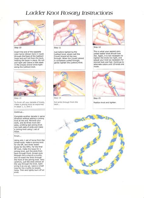 printable rosary instructions ladder knot twine rosary instructions page 2 of 2 ladder