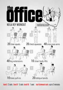 Office Chair Ab Exercises Visual Workout Posters Inspired By Popular Movies Tv