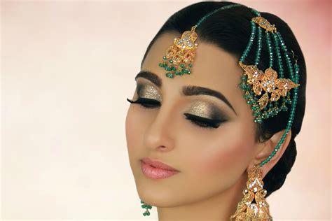 bridal makeup videos 2016 indian pakistani and arabic gold and peach mehndi makeup tutorial indian bridal