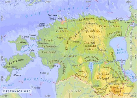 map of estonia estonica org topographic map of estonia