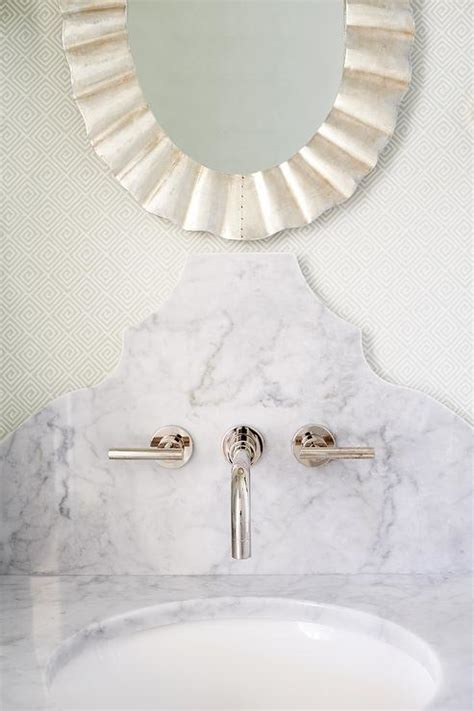 St James Single Vanity in Powder Room   Transitional
