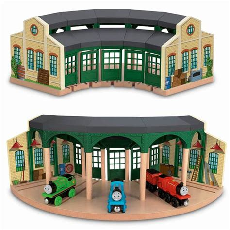 The Tank Engine Sheds by The Tank Engine Wooden Railway Tidmouth Sheds Set