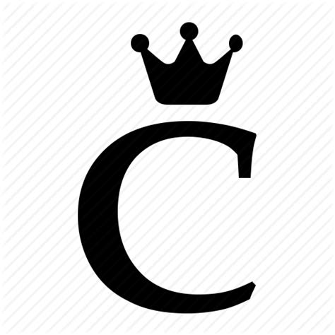 Alphabet C alphabet c crown letter royal icon icon