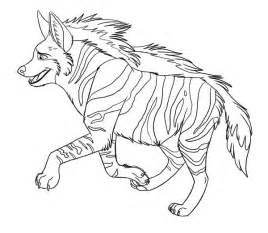 hyena animal coloring coloring pages cat