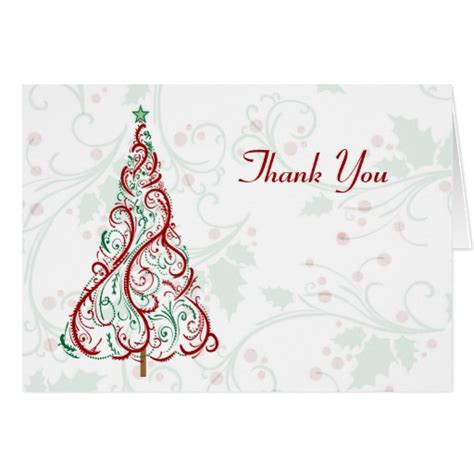 Thank You Card Template With Tree by Tree Thank You Card Zazzle