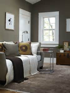 taupe paint contemporary bedroom benjamin woodcliff lake urrutia design