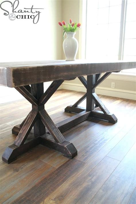 Diy Rustic Wood Dining Table Diy Wood Dining Table Thelt Co