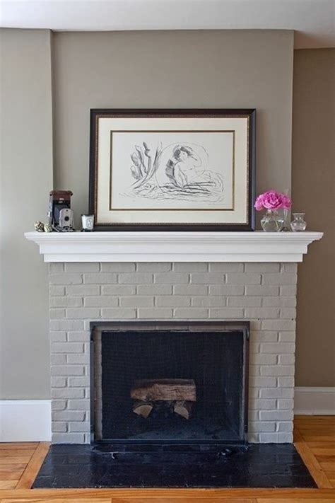 17 best ideas about painted brick fireplaces on update brick fireplace brick