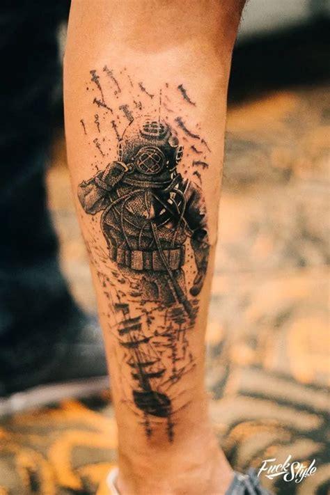 scuba diving tattoos k 233 ptal 225 lat a k 246 vetkezőre diving tattoos black