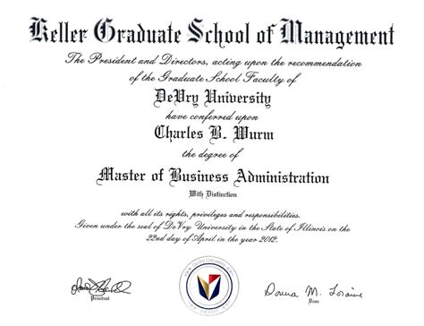 Keller Mba Health Services by Business Administration Graduate Diploma In Business