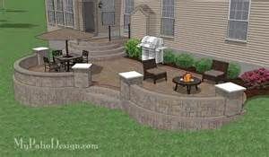 patio designs for sloped yards triyae deck ideas for a sloped yard various design