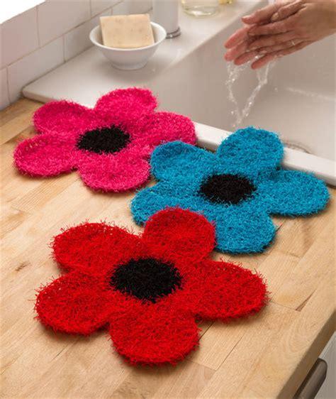 swirl scrubby free crochet pattern in red heart yarns fancy flower scrubber red heart