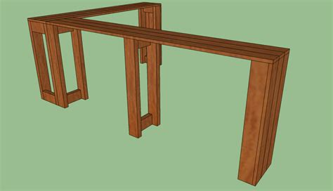 diy sofa table plans diy console table plans
