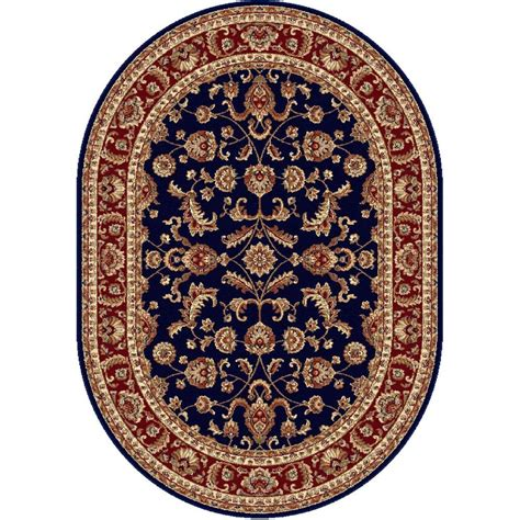 blue oval rug tayse rugs sensation navy blue 5 ft 3 in x 7 ft 3 in oval transitional area rug 4797 navy