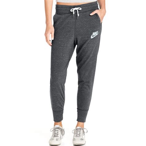 light grey nike sweatpants lyst nike gym vintage sweatpants in gray