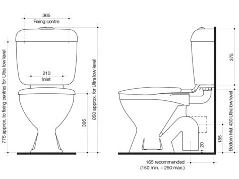 toilet width the best 100 chair height toilet dimensions image
