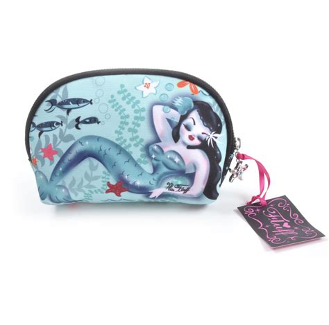 martini mermaid martini mermaid up cosmetic bag by fluff pink cat shop