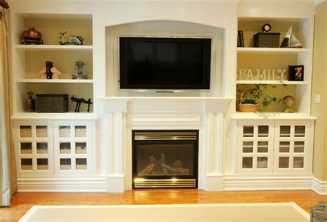 built in shelves flanking television design ideas seaside interiors adding some flare to your fireplace