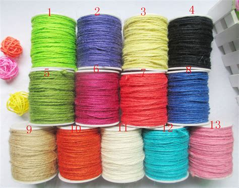 colored jute twine hemp jute rope jute colored twine cord for diy decorative
