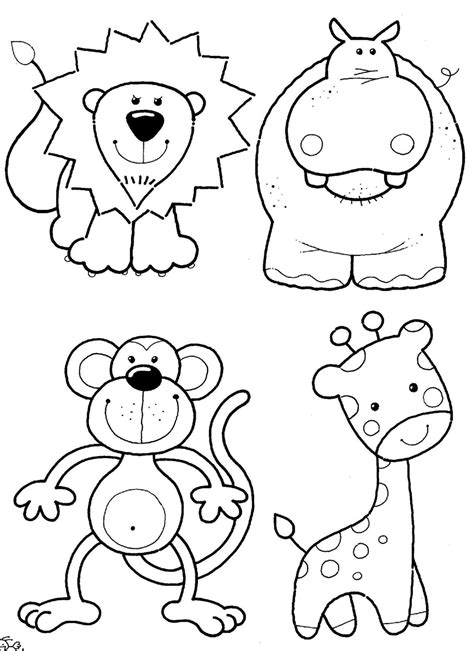 coloring book pictures of animals free hibernate animals coloring pages