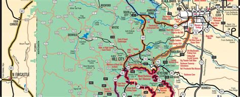 printable south dakota road map sites attractions pines motel