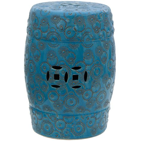furniture 18 quot spherical design porcelain garden stool