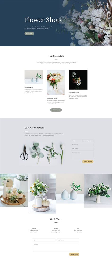 home page layout design view located on the ribbon is referred to as download the free and lovely florist layout pack for divi
