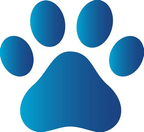 blue prints paw print clipart no background www pixshark images galleries with a bite