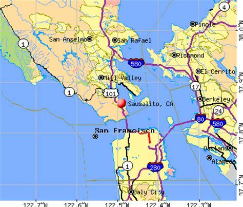 sausalito map sausalito california ca 94965 profile population maps