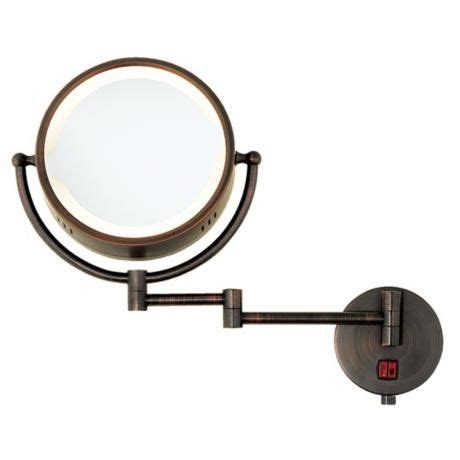 swing arm vanity mirror oil rubbed bronze swing arm plug in lighted vanity mirror
