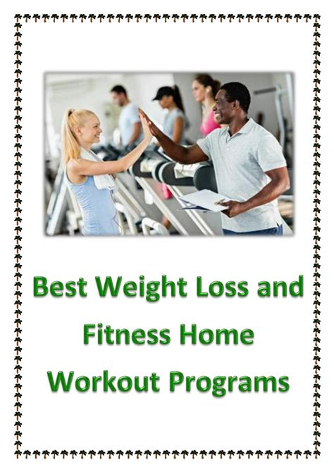 best weight loss and fitness home workout programs