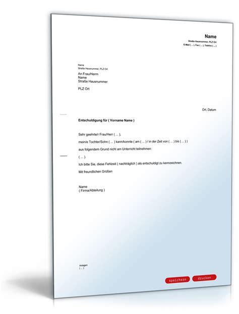 Musterbriefe Entschuldigungsschreiben musterbrief entschuldigung