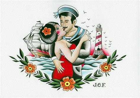 sailor couple tattoo sailor 04 2015 my flash