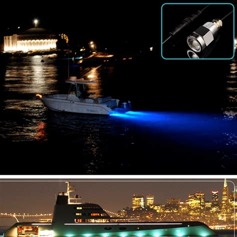 boat plug light blue led 1 2 quot npt underwater boat drain plug light with