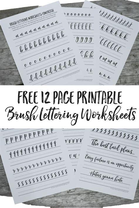 hand lettering tutorial worksheet free brush lettering worksheets