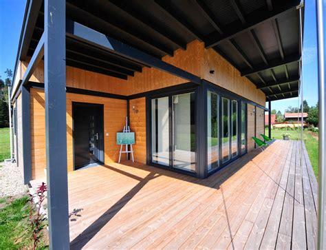 maison de en bois maison bois plain pied type loft nos maisons ossatures