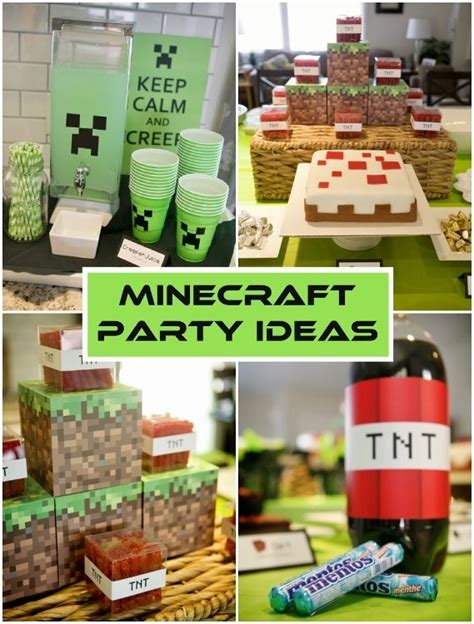 Simple Decoration For Birthday Party At Home by Minecraft Birthday Party Ideas Diy Inspired