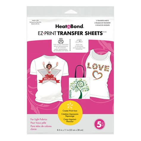 inkjet printable adhesive fabric heatnbond ez print inkjet transfer sheets for light