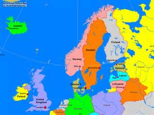 Europe Political Map by North Europe Political Map A Learning Family