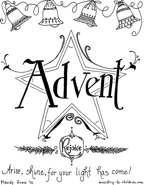 Advent Coloring Page free coloring pages of second sunday of advent