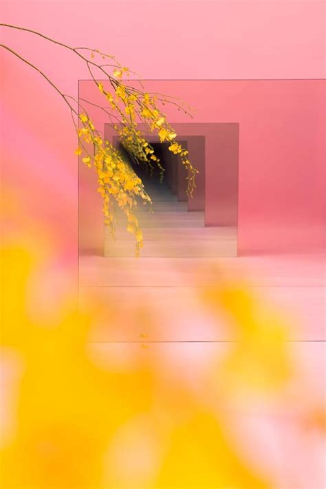 pink and yellow make what color mirror sculptures to make you look and look again another