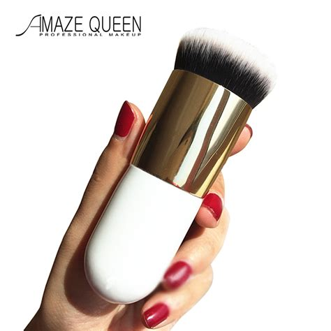 Quen Shop White Brush Sonar 2015 new single makeup brush blush brush foundation brush concealer brush gold white silver