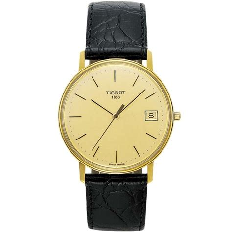 Tissot Gold Leather s tissot t71 3 401 21 francis gaye jewellers