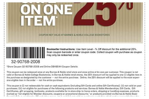 barnes and noble online book coupons
