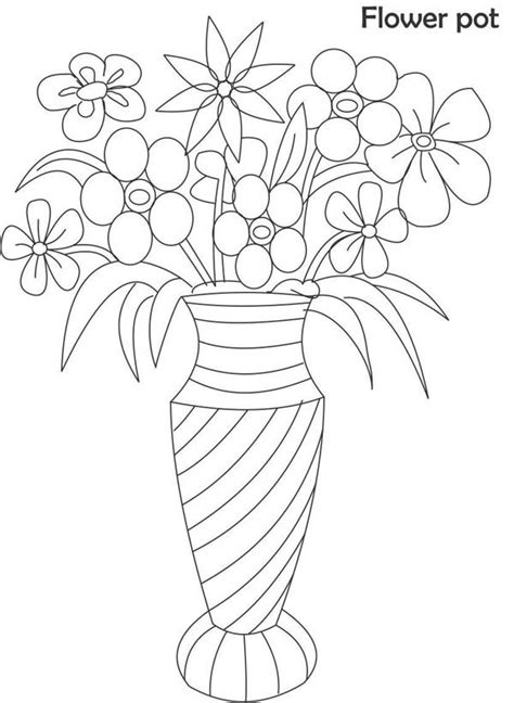 gallery draw a flower vase for kids drawings art gallery