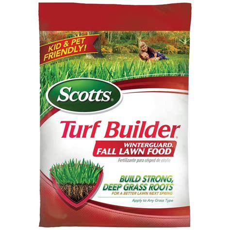 scotts turf builder 12 5 lb 5 000 sq ft winterguard